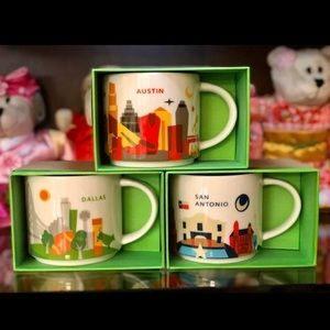 Dallas • Austin • San Antonio Starbucks mugs